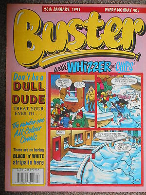 Buster with Whizzer & Chips Comic 26th January 1991