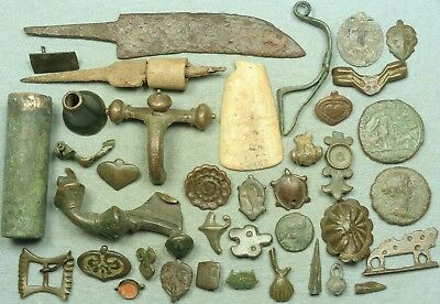 Lot Of Misc. Ancient Bronze / Lead / Iron Artifacts