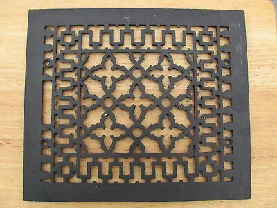 """Ornate Victorian Fancy Cast Iron Mission Floor Grate Heat Vent 12"""" by 14"""""""