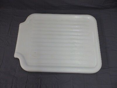 Vintage Cast Iron White Porcelain Sink Extension Standard Drainboard Old 187-18P