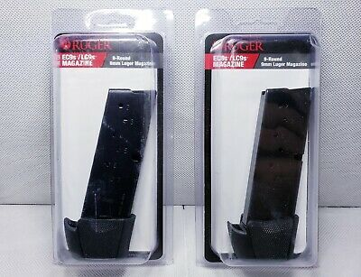 2 PACK Ruger LC9 LC9s EC9s 9 Round Extended Magazine with Finger Rest 9mm 90404