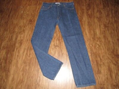 VINTAGE MENS LEVI'S 501 BUTTON FLY JEANS sz 38x36 made in USA classic straight