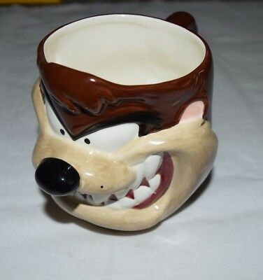 1995 Warner Bros Tazmanian Devil 3D Coffee Mug Cup by Applause with Box
