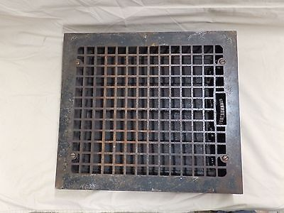 Antique Large Cast Iron Arts & Crafts Heat Floor Grate Register Vent Old 3908-14