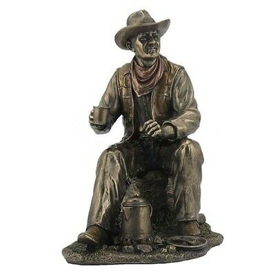 "9.25"" Cowboy Coffee Break Statue Western Figurine Country Figure"