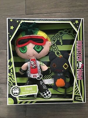 New Monster High Plush Friends DEUCE GORGON and Perseus Doll