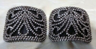 French Vintage Cut Steel ornate Pair of  SHOE BUCKLES