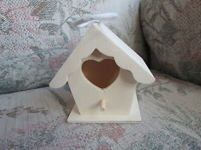 """Unfinished ArtMinds Birdhouse with Heart Opening, approx 3 3/4"""" tall"""