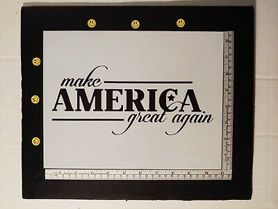 "Trump Make America Great Again MAGA 11"" x 8.5"" Custom Stencil FAST FREE SHIPPING"