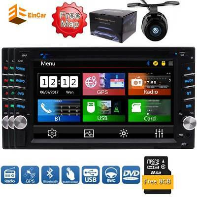 "HD 6.2"" Touchscreen GPS Bluetooth Double 2Din Stereo Car Radio DVD Player+Camera"