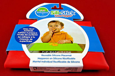 Red Neat Solutions Sili-Stick Table Topper Silicone Children's Toddler Placemat