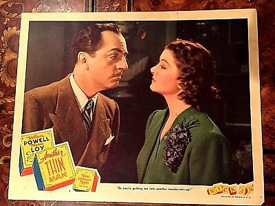 Another Thin Man 1939 Original Lobby Card- William Powell, Myrna Loy