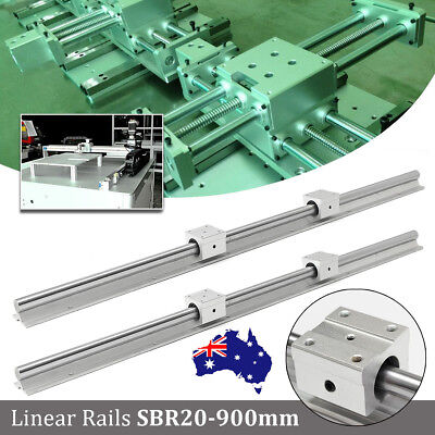 2 set SBR20--900mm Linear rail rod support + 4 pcs SBR20UU Blocks Rounter