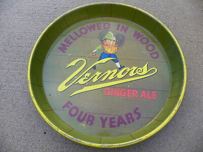 Vernors Ginger Ale Soda Pop Serving Tray With Gnome