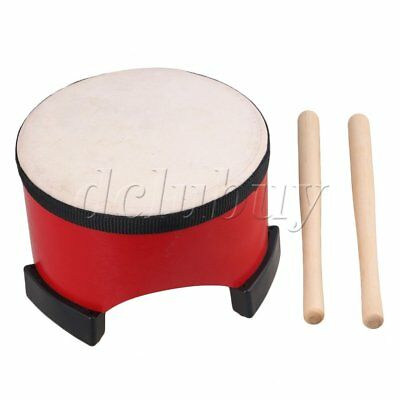 20cm Dia Red Wooden Percussion Toy Floor Tom Drum for Children Musical Toy