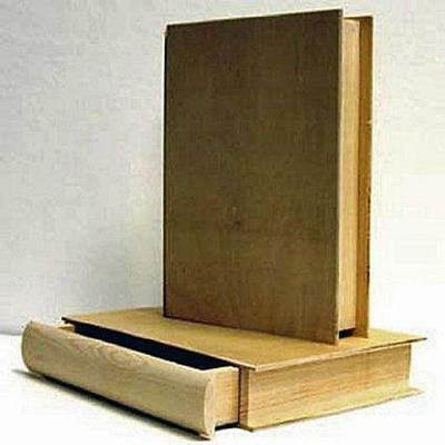 """1 X Unfinished Pine Wood 8"""" Book BOX with Pull Out Drawer"""