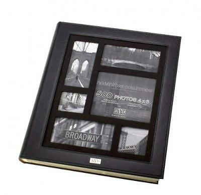 Kleer-vu Photo Album Suedeleather Collection, Holds 500 4x6 Inches Photos, 5 Per