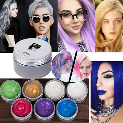 7 Colors Hair Color Mofajang Wax Mud Dye Styling Cream Disposable DIY Coloring