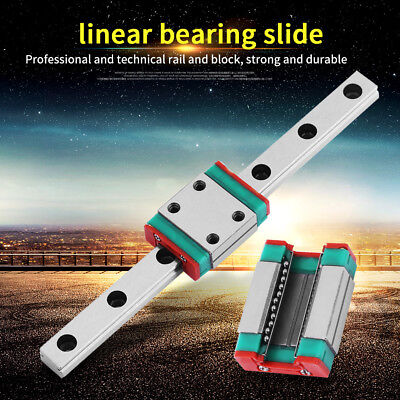 100/175/400/500/700mm Miniature Linear Sliding Rail Guide and Carriage Block wt