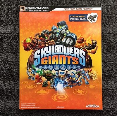 """SKYLANDERS GIANTS """"Orange"""" Official Strategy Guide Book (2012) Activision"""