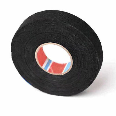 19mm x 25M Adhesive Fabric Cloth Tape Cable Looms Wiring Printing Masking Tool