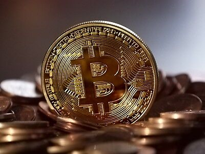 Bitcoin Commemorative Edition Gold Plated Coin In Protective Acrylic Case US