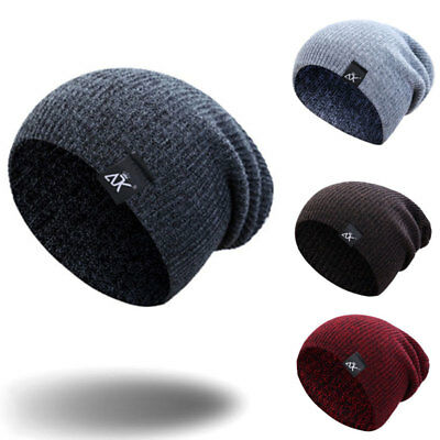 Womens Mens Fashion  Knit Ski Cap Warm Wool Stretch Fit Hat Cap