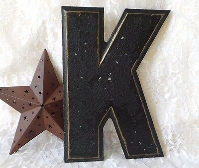 Vintage Letter Theater Marquee Letter K Cast Industrial Letters Wagner Signs