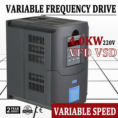 Top Quality 4.0Kw 5Hp 220Vac Variable Frequency Drive Inverter Vfd Vsd