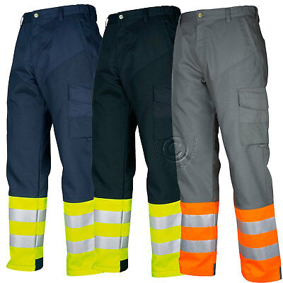 Projob Hi Vis Stretch Work Trousers (Dirt and Oil Repellent) Class 1 - 646507