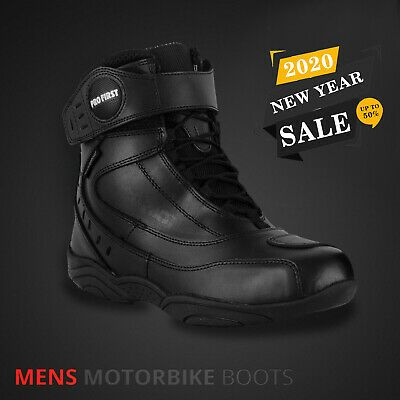 Black Mens Motorbike Racing Boots Motorcycle Ce Touring Leather Shoes / Boots