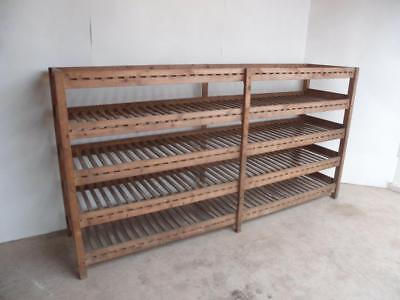 An Amazing Massive Antique/Old Pine Scullery/Utility Shelving/Racking for Veg
