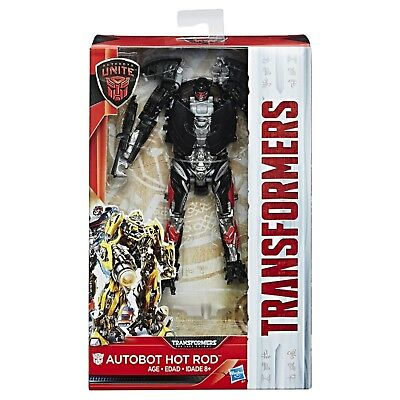 Transformers: The Last Knight Autobots Unite Deluxe Autobot Hot Rod Figure