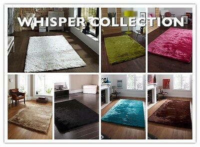Shaggy Soft Luxurious Thick Long Pile X Large Small Modern Rug HeavyWeight Silky