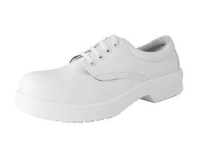 Click Lorisafe Water Resistant Tie Safety Shoe White S2 Src - D222