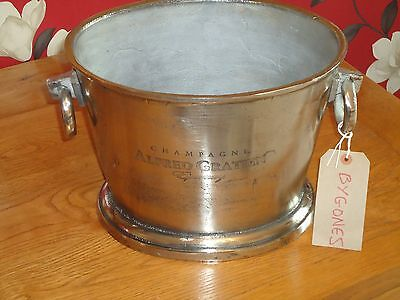 Champagne Ice Bath Chunky Cast Metal - Silver Nickel Finish - Wine Cooler/Bucket