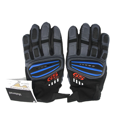 Motorcycle BMW GS1200 Rallye 4 GS PRO Blue Gloves, Size M, Motorcycle Gloves