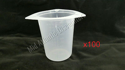 100 VWR 25384-156 Beaker Tripour 400mL 13 oz Single Use Non Sterile