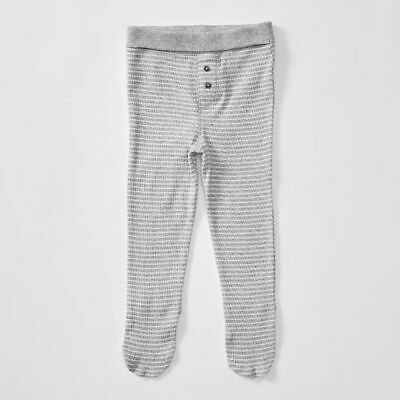 NEW Baby Organic Cotton Stripe Pants With Feet