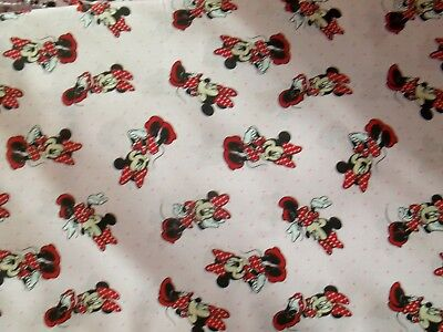 New Hand Made Minnie Mouse Pink Polka Dots Fitted Crib/Toddler Sheet