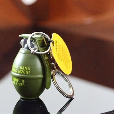 Grenade Gas Keychain Key Ring Chain Chaveiro Decoration Mens Metal Model Alloy