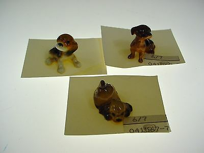 Vintage Hagen Renaker Dog Figurine Lot Dachshund Beagle Cocker Spaniel  - A