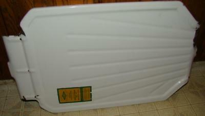 Vtg White Porcelain Kitchen Sink Basin Extention Drainboard Ingram Richardson