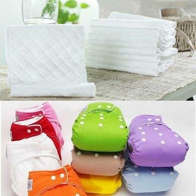 Useful Baby Washable Nappies Grid/Cotton Training Pant Cloth Version Diaper SS#5