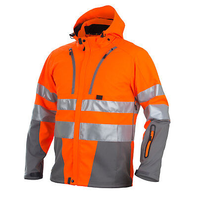 Projob Hi Vis Functional Softshell Work Jacket (Quilt Lined) Class 3/2 - 646420