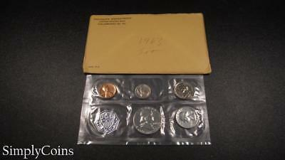 1963 Proof Set ~ Original Envelope With COA ~ US Mint Silver Coin Lot SKU-1092