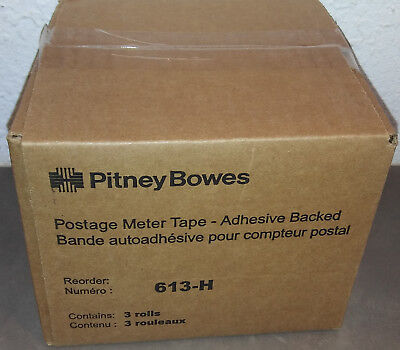 Pitney Bowes 613-H Genuine Tape Rolls (3 Pack) Postage Meter Sld Box  Connect +