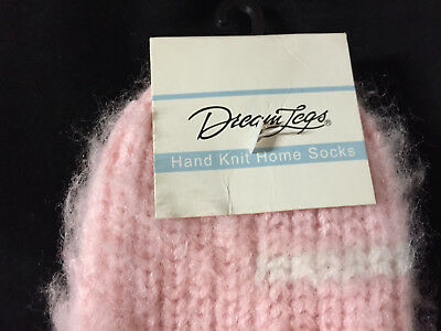 VTG Pink Fuzzy Socks 100% Acrylic Anklets New 9-11 Thick & Juicy