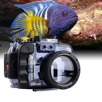 Sony A6000 A6300 A6500 60m/195ft Sea frogs Underwater Diving Camera Housing Case