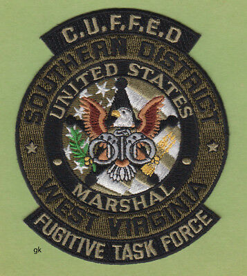 West Virginia Us Marshal Fugitive Task Force Cuffed  Police Shoulder Patch